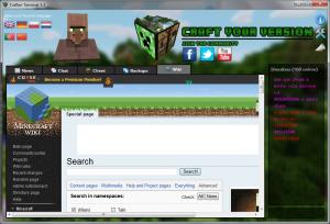 Okno MinecraftWiki