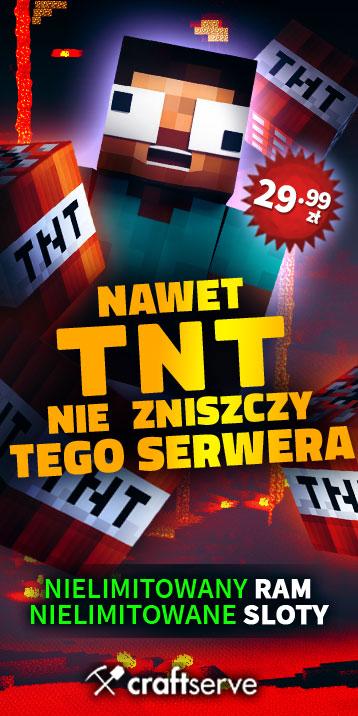 Craftserve to największy i najlepszy polski hosting serwerów Minecraft, jest solidny i tani więc go polecam